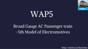common Railway Abbreviations -WAP5