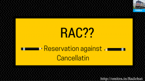 Common Railway Abbreviations-RAC- Reservation Against Cancellation