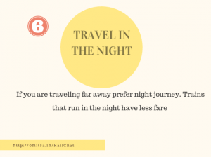 11 hacks of Train Journey- Travel in the night