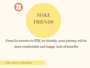 11 hacks of Train Journey- Make Friends