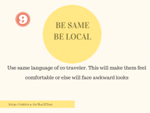 11 hacks of Train Journey- Be Same Be local