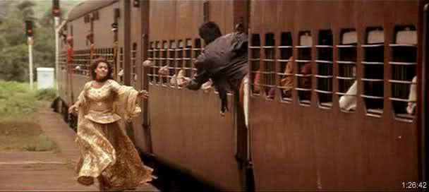 Images showing trains scene from DDLJ