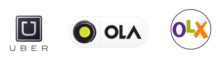 Uber, Ola, Olx car, taxi ads pooling services