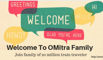 Images showing welcome message for train travelers