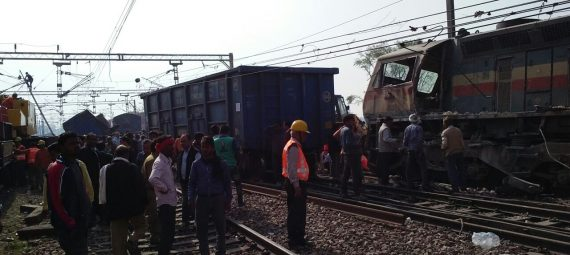 Train collides image