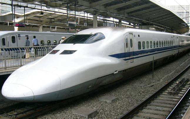 white bullet train image